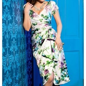 Pinup Couture Purple Floral Ava Dress S